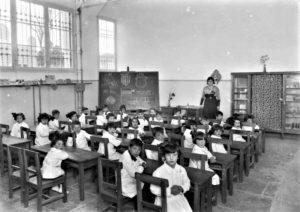 Foto Vallvé. Aula d'una escola de Tarragona, durant l'any 1932. Centre d'Imatges de Tarragona / L'Arxiu.